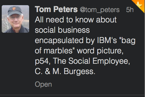 Tom Peters Bag of Marble SocBiz