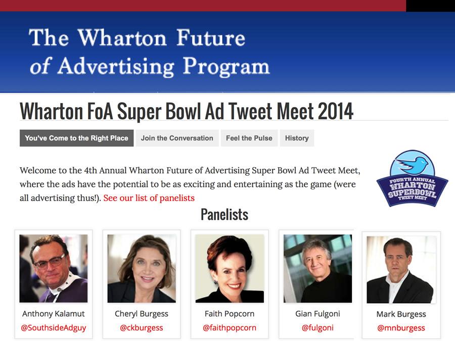 Wharton Future of Ad Tweet Meet 2014