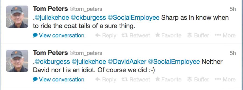 Tom Peters Twitter Sharp Aaker