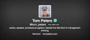 Tom Peters Avatar Twitter