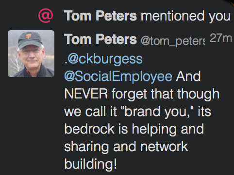 Tom Peters brand you